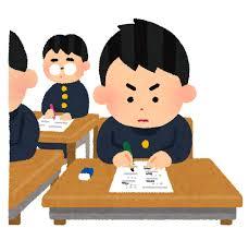テスト・受験のイラスト「試験中の男子学生」 | かわいいフリー素材集 いらすとや